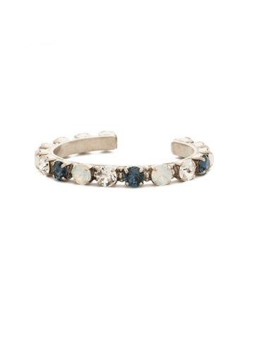 Riveting Romance Cuff Bracelet Cuff Bracelet in Antique Silver-tone Glory Blue