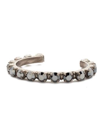 Riveting Romance Cuff Bracelet Cuff Bracelet in Antique Silver-tone Hematite
