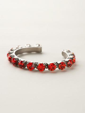 Riveting Romance Cuff Bracelet Cuff Bracelet in Antique Silver-tone Hyacinth