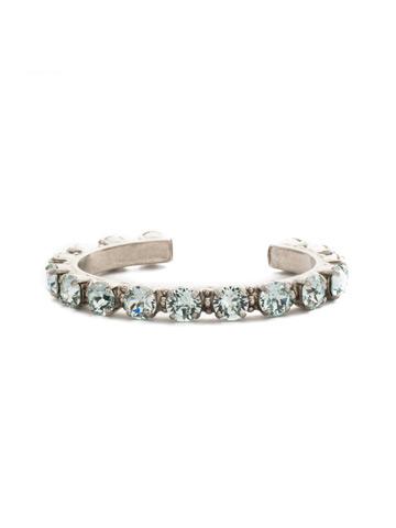 Riveting Romance Cuff Bracelet Cuff Bracelet in Antique Silver-tone Light Aqua