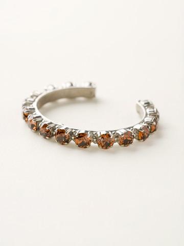 Riveting Romance Cuff Bracelet in Antique Silver-tone Smoke Topaz