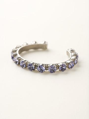 Riveting Romance Cuff Bracelet Cuff Bracelet in Antique Silver-tone Tanzanite