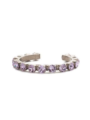 Riveting Romance Cuff Bracelet in Antique Silver-tone Violet