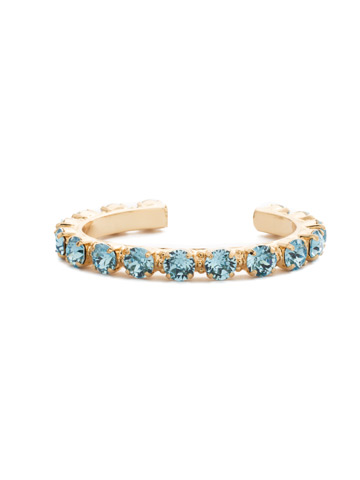 Riveting Romance Cuff Bracelet Cuff Bracelet in Bright Gold-tone Aquamarine