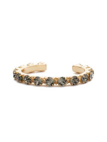 Riveting Romance Cuff Bracelet Cuff Bracelet in Bright Gold-tone Black Diamond