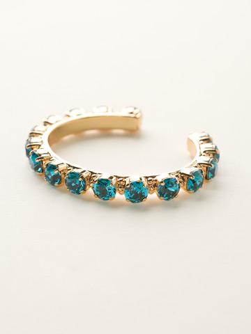 Riveting Romance Cuff Bracelet Cuff Bracelet in Bright Gold-tone Blue Topaz