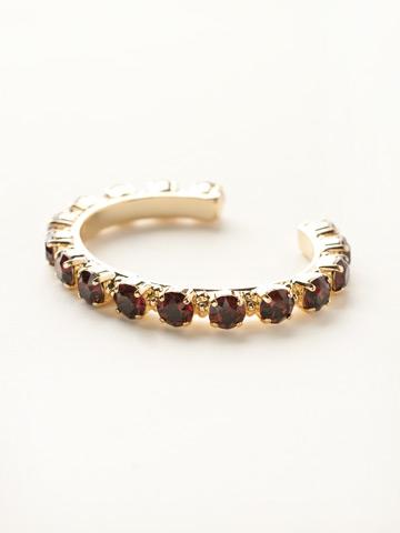 Riveting Romance Cuff Bracelet Cuff Bracelet in Bright Gold-tone Burgundy