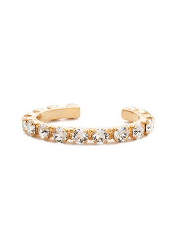 Riveting Romance Cuff Bracelet Cuff Bracelet in Bright Gold-tone Crystal