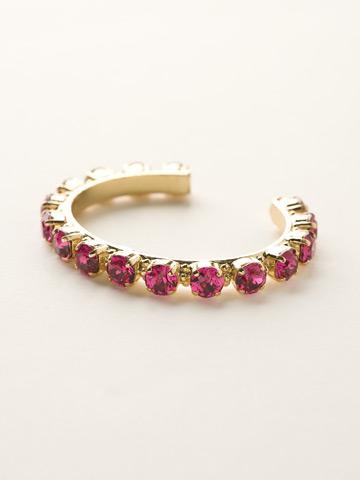 Riveting Romance Cuff Bracelet Cuff Bracelet in Bright Gold-tone Fuchsia
