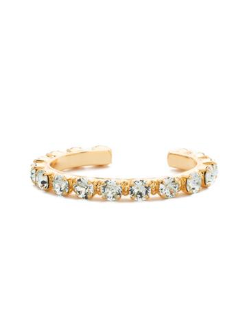 Riveting Romance Cuff Bracelet in Bright Gold-tone Light Aqua