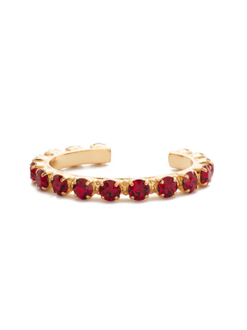 Riveting Romance Cuff Bracelet in Bright Gold-tone Siam