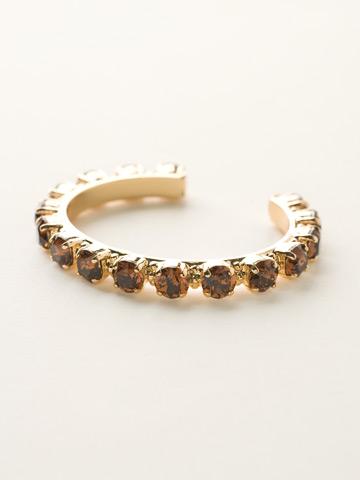 Riveting Romance Cuff Bracelet Cuff Bracelet in Bright Gold-tone Smoke Topaz