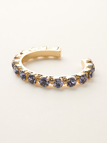 Riveting Romance Cuff Bracelet Cuff Bracelet in Bright Gold-tone Tanzanite