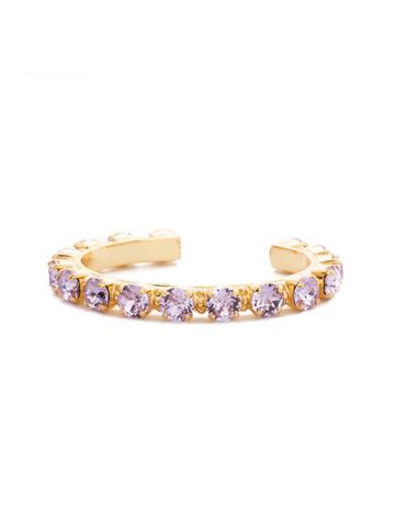 Riveting Romance Cuff Bracelet Cuff Bracelet in Bright Gold-tone Violet