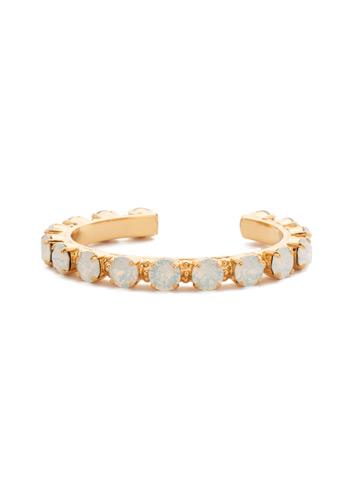 Riveting Romance Cuff Bracelet Cuff Bracelet in Bright Gold-tone White Opal