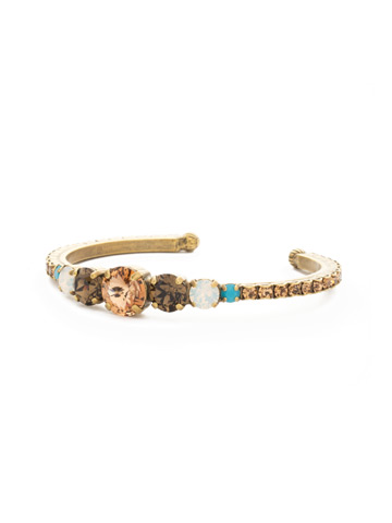 Dazzling Dotted Line Cuff in Antique Gold-tone Driftwood