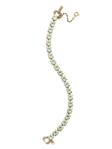 Repeating Round Crystal Line Bracelet in Antique Gold-tone Mint