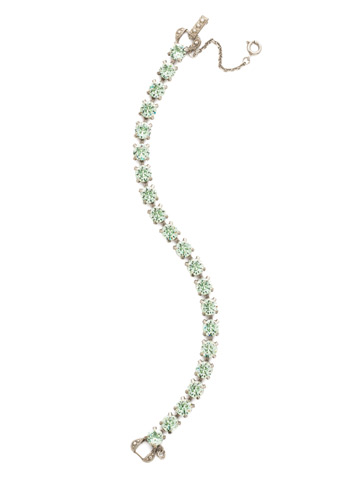 Repeating Round Crystal Line Bracelet in Antique Silver-tone Mint