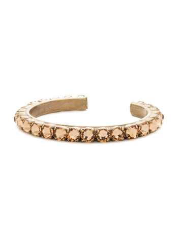 Enchanting Crystal Cuff in Antique Gold-tone Neutral Territory