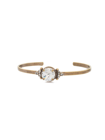 Radiant Round Bracelet in Antique Gold-tone Crystal