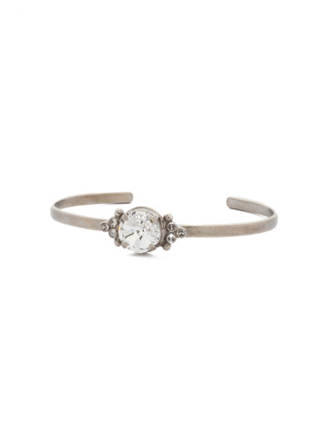 Radiant Round Bracelet in Antique Silver-tone Crystal