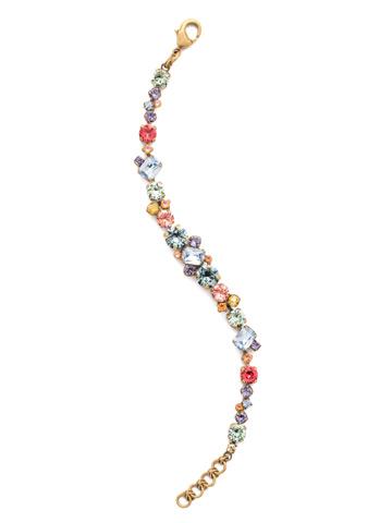 Geo Classic Line Bracelet in Antique Gold-tone Bohemian Bright