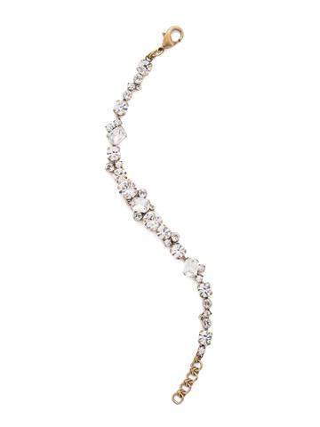 Geo Classic Line Bracelet in Antique Gold-tone Crystal