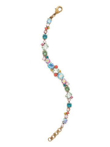 Geo Classic Line Bracelet in Antique Gold-tone Happy Birthday