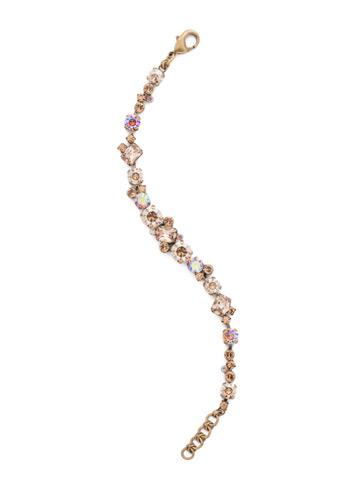Geo Classic Line Bracelet in Antique Gold-tone Neutral Territory