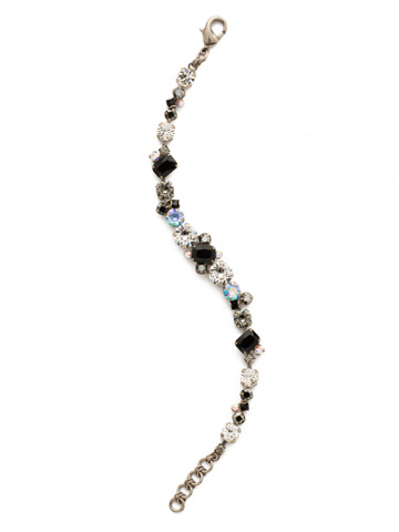Geo Classic Line Bracelet in Antique Silver-tone Black Tie