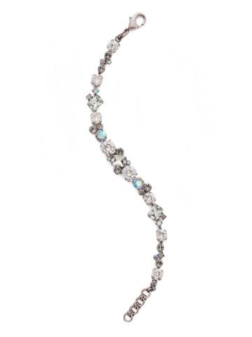 Geo Classic Line Bracelet in Antique Silver-tone Crystal Rock