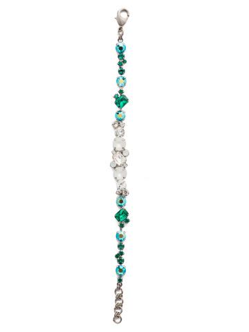 Geo Classic Line Bracelet in Antique Silver-tone Snowy Moss
