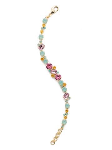 Geo Classic Line Bracelet in Bright Gold-tone Candy Pop