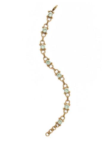 Mini Eyelet Line Bracelet in Antique Gold-tone Mint