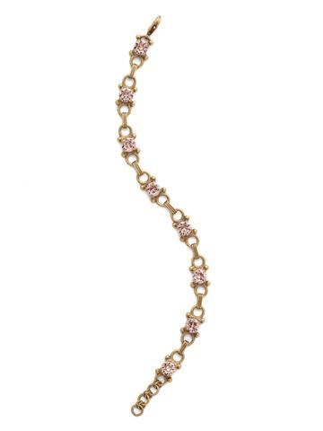 Mini Eyelet Line Bracelet in Antique Gold-tone Vintage Rose