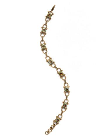 Mini Eyelet Line Bracelet in Antique Gold-tone Volcano