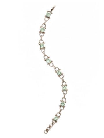 Mini Eyelet Line Bracelet in Antique Silver-tone Mint