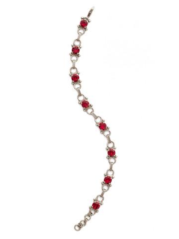 Mini Eyelet Line Bracelet in Antique Silver-tone Siam