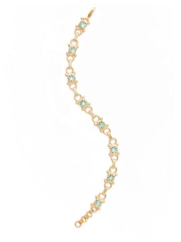 Mini Eyelet Line Bracelet in Bright Gold-tone Mint