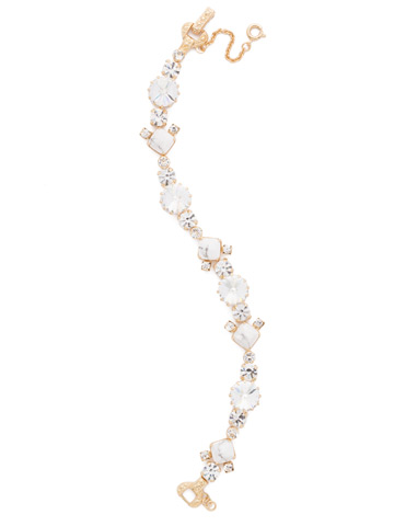 Gingham Classic Line Bracelet in Bright Gold-tone Crystal