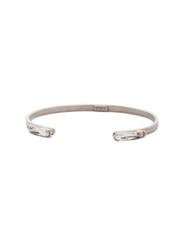 Twill Cuff Bracelet in Antique Silver-tone Crystal