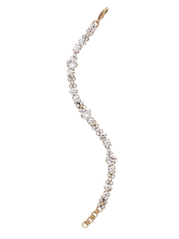 Well-Rounded Bracelet in Antique Gold-tone Crystal