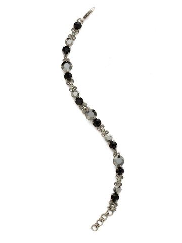 Well-Rounded Bracelet in Antique Silver-tone Black Onyx
