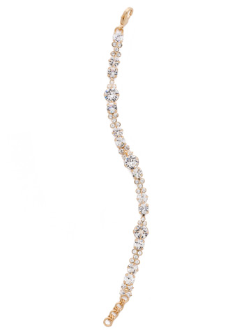 Well-Rounded Bracelet in Bright Gold-tone Crystal