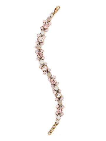 Perfect Harmony Bracelet in Antique Gold-tone Pink Peony
