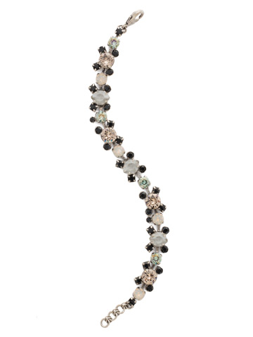 Perfect Harmony Bracelet in Antique Silver-tone Black Onyx
