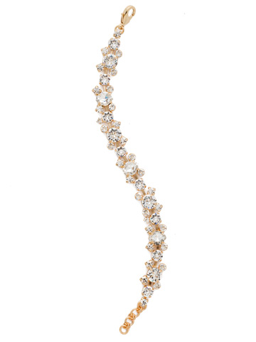 Perfect Harmony Bracelet in Bright Gold-tone Crystal