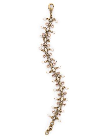 Fringe Benefits Bracelet in Antique Gold-tone Apricot Agate