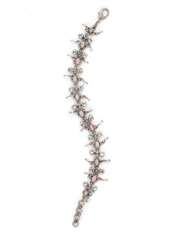 Fringe Benefits Bracelet in Antique Silver-tone Rainbow Quartz