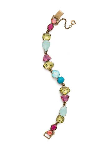 Geometry Line Bracelet in Antique Gold-tone Botanical Brights